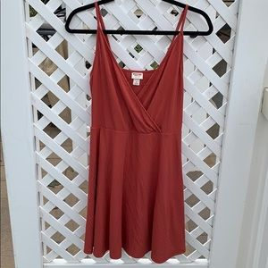 Mossimo burnt orange mid dress sz S